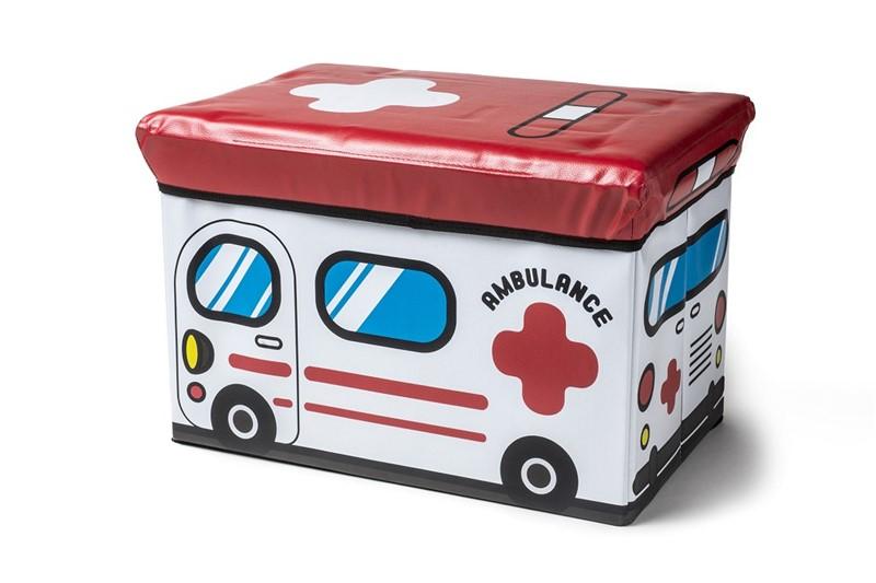 Σκαμπώ – Κουτί Αποθήκευσης «Ασθενοφόρο» 49x31x31εκ. ESPIEL PVC103 – ESPIEL – PVC103