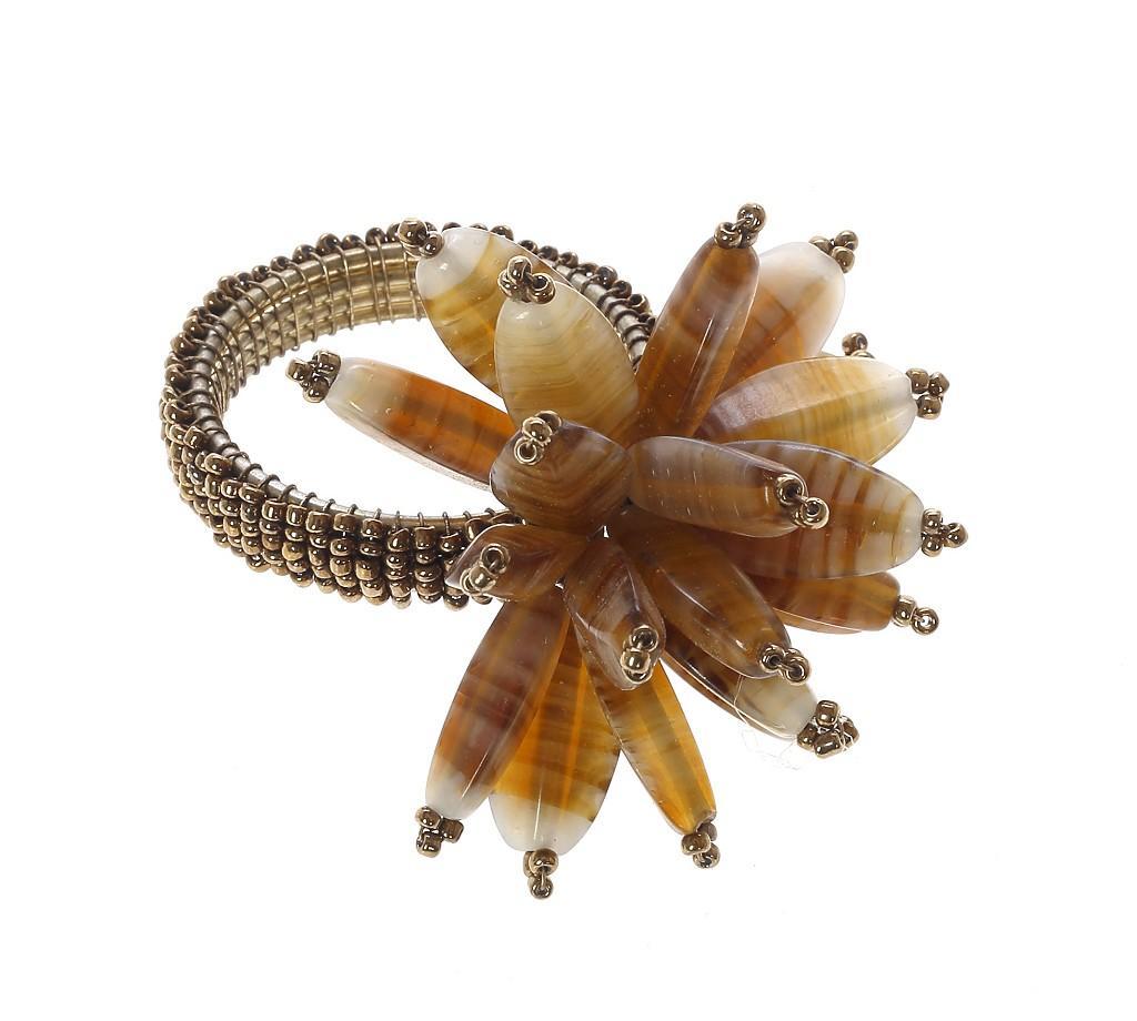 Δαχτυλίδι Πετσέτας Μεταλλικό Με Κοχύλια Χρυσό ESPIEL 6,45×6,43εκ. YRA215K6 (Υλικό: Μεταλλικό, Χρώμα: Χρυσό ) – ESPIEL – YRA215K6