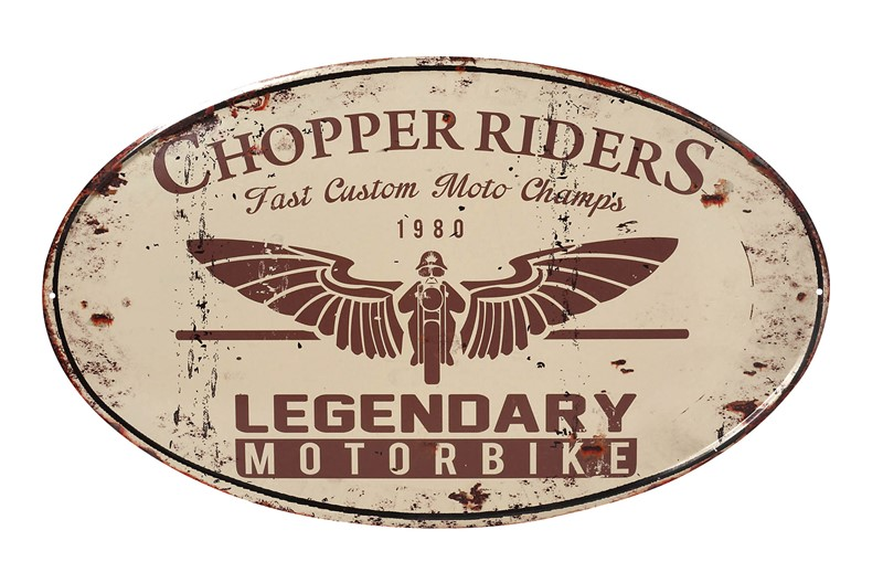 Διακοσμητική Ταμπέλα «Motorbike» ESPIEL 34×57εκ. LOG412 – ESPIEL – LOG412