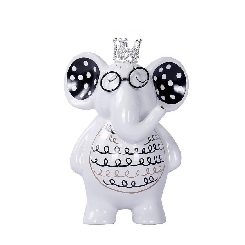 Διακοσμητικός Ελέφαντας ESPIEL 10,5×7,5×15εκ. DOT116 (Χρώμα: Λευκό) – ESPIEL – DOT116