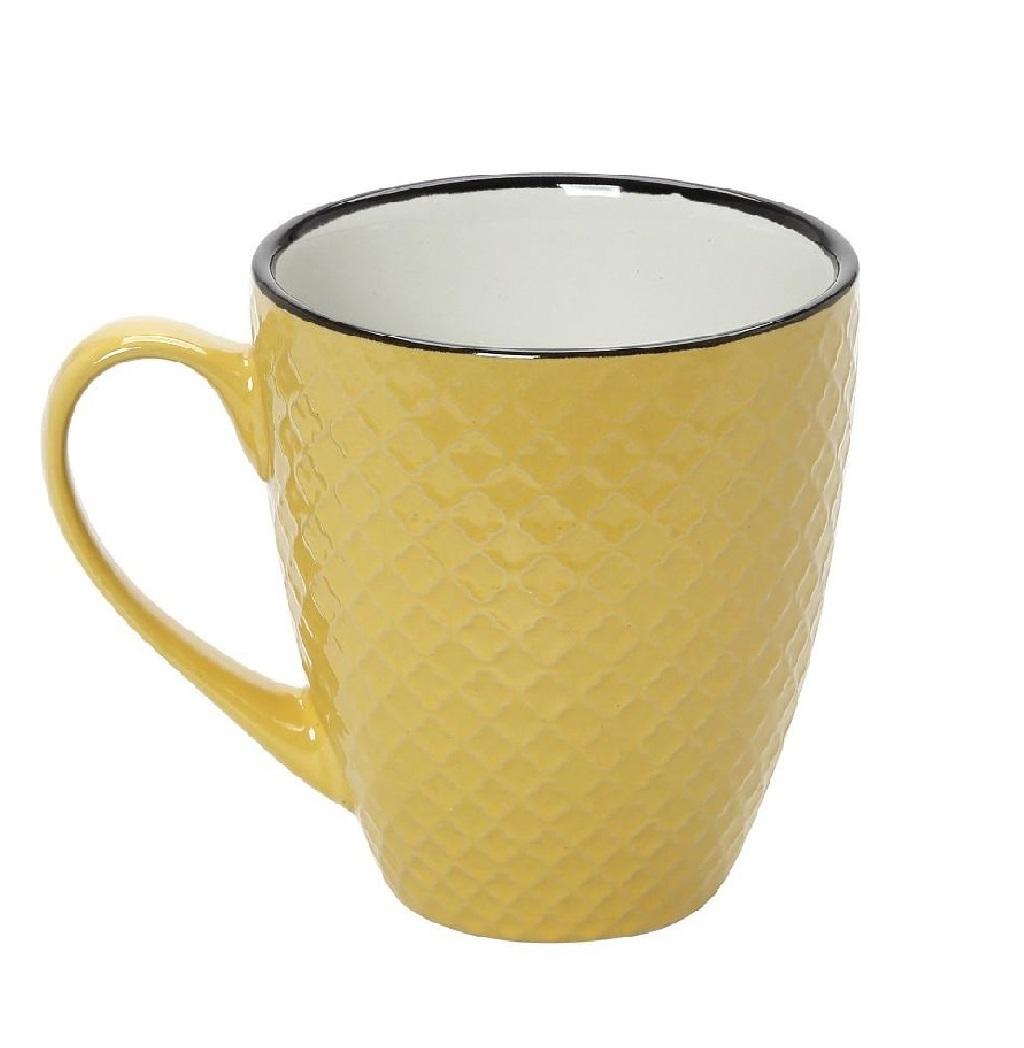 Κούπα Stoneware 560ml Κίτρινο-Κρεμ Cookie Delight ESPIEL HUN405K6 (Χρώμα: Κίτρινο , Υλικό: Stoneware) - ESPIEL - HUN405K6