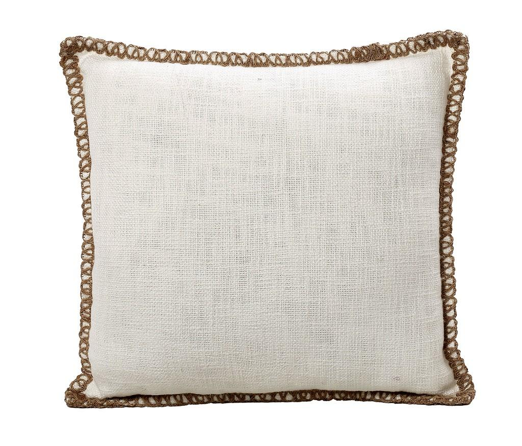 Διακοσμητικό Μαξιλάρι Βαμβακερό-Γιούτα ESPIEL 45×45εκ. JAS101 (Χρώμα: Λευκό) – ESPIEL – JAS101