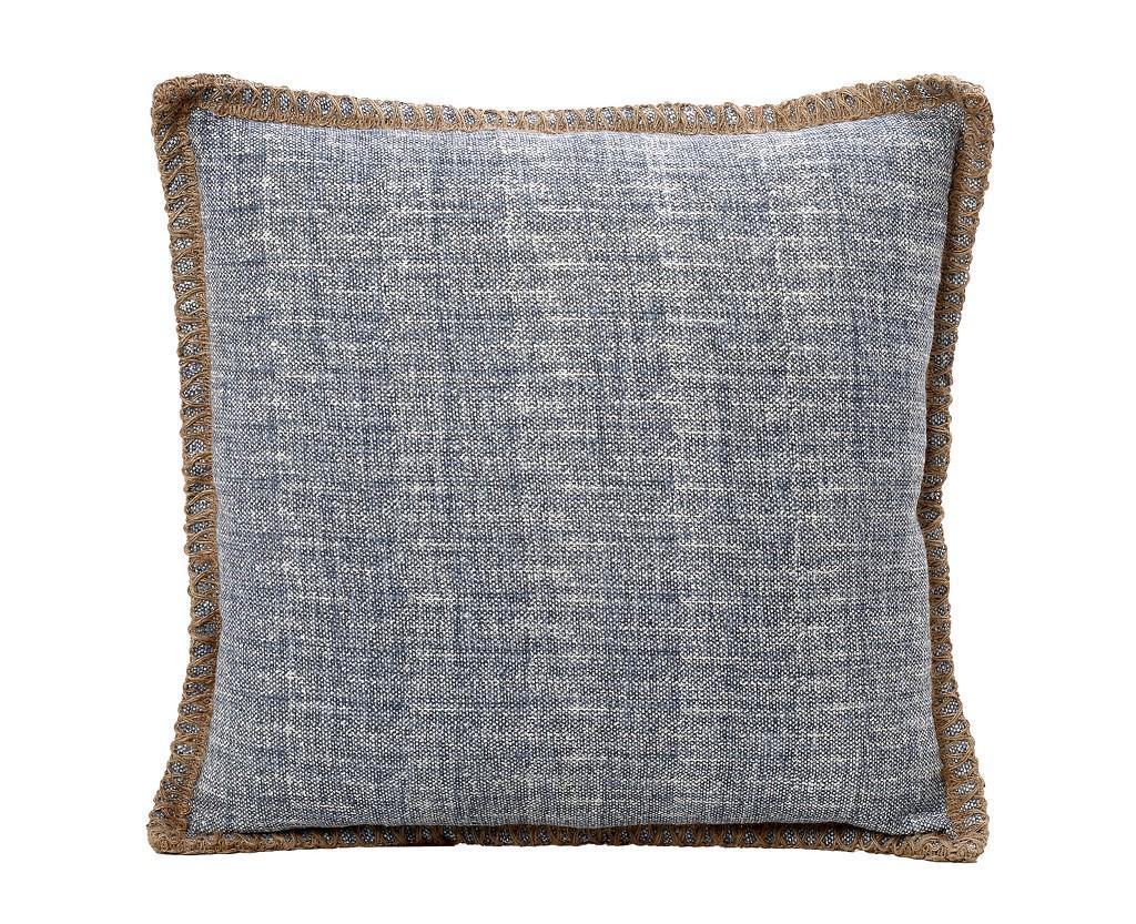 Διακοσμητικό Μαξιλάρι Βαμβακερό-Γιούτα ESPIEL 45×45εκ. JAS103 (Χρώμα: Μπλε) – ESPIEL – JAS103