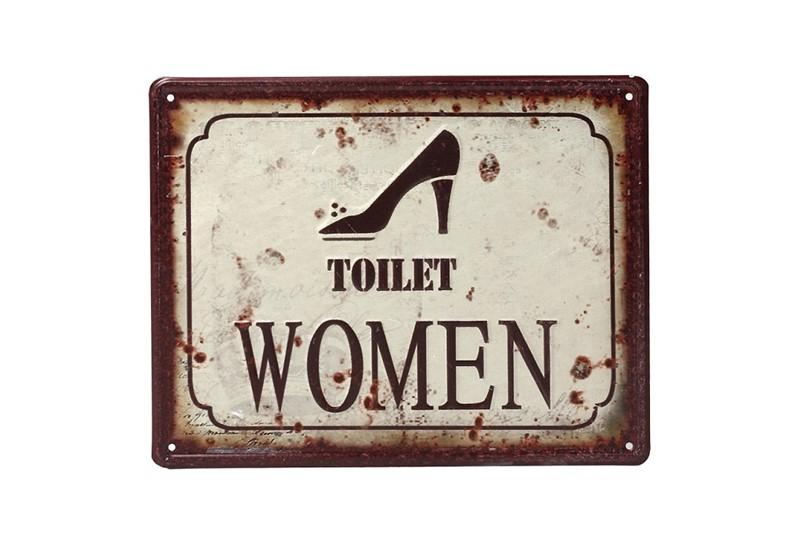 Ταμπέλα «Toilet Women» Μεταλλική 20×25εκ. ESPIEL LOG201 – ESPIEL – LOG201