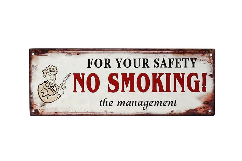 Ταμπέλα «No smoking» Μεταλλική 36×13εκ. ESPIEL LOG222 – ESPIEL – LOG222