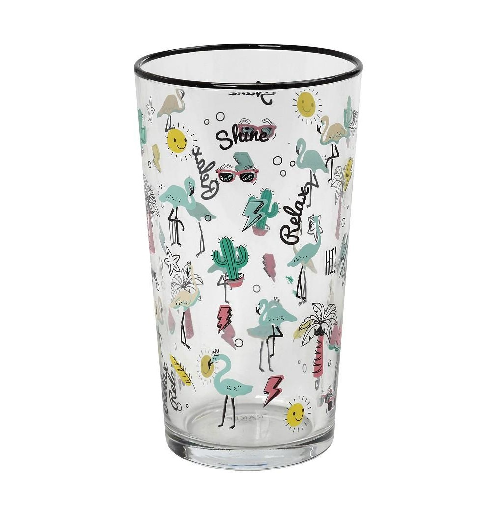 Ποτήρι Νερού Με Σχέδιο Funky ESPIEL 570ml RAB508K6 – ESPIEL – RAB508K6