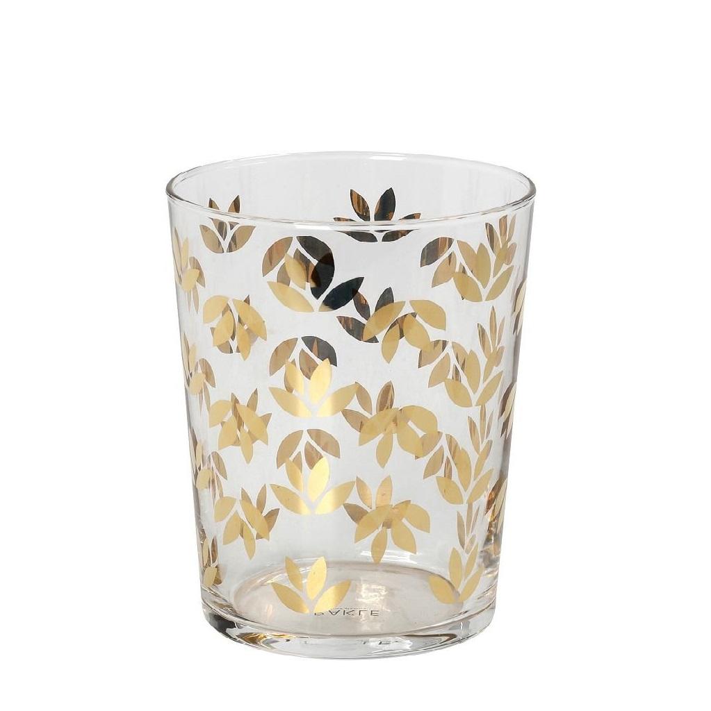 Ποτήρι Νερού Με Χρυσό Σχέδιο Lucia ESPIEL 380ml RAB535K6 (Χρώμα: Χρυσό ) – ESPIEL – RAB535K6