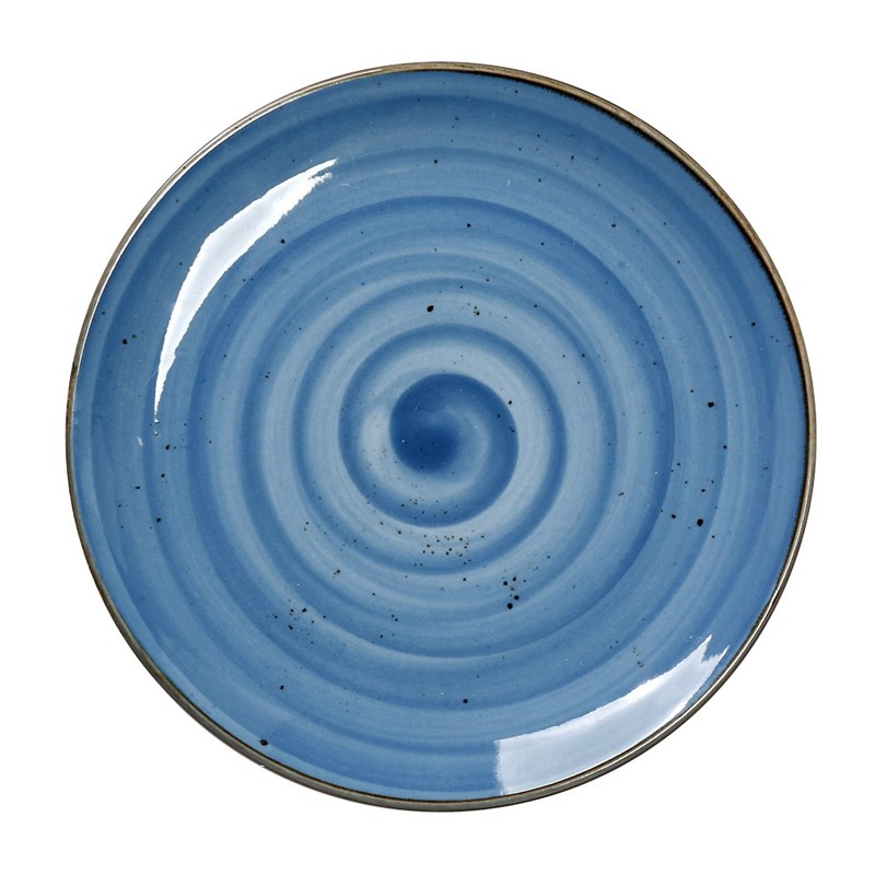Πιάτο Ρηχό Πορσελάνης Terra Blue ESPIEL 24,5εκ. TLF102K6 (Υλικό: Πορσελάνη, Χρώμα: Μπλε) – ESPIEL – TLF102K6