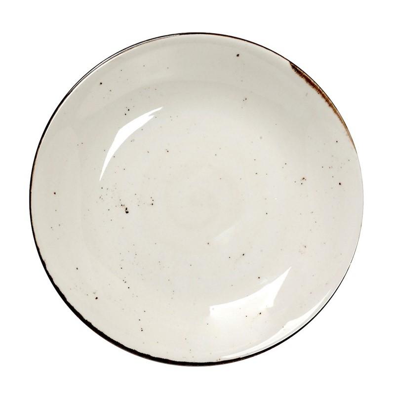 Πιάτο Σπαγγέτι Πορσελάνης Terra Cream ESPIEL 25,5×4,5εκ. TLK105K6 (Υλικό: Πορσελάνη, Χρώμα: Κρεμ) – ESPIEL – TLK105K6