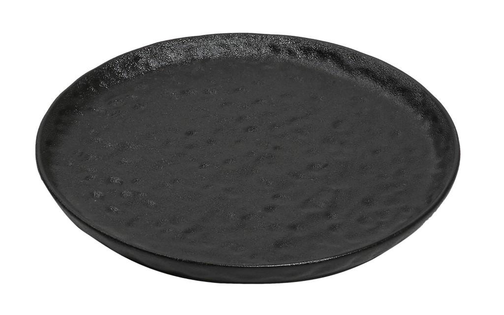 Πιάτο Στρογγυλό Stoneware ESPIEL 27x2,3εκ. NOL118K4 (Υλικό: Κεραμικό, Χρώμα: Μαύρο) - ESPIEL - NOL118K4
