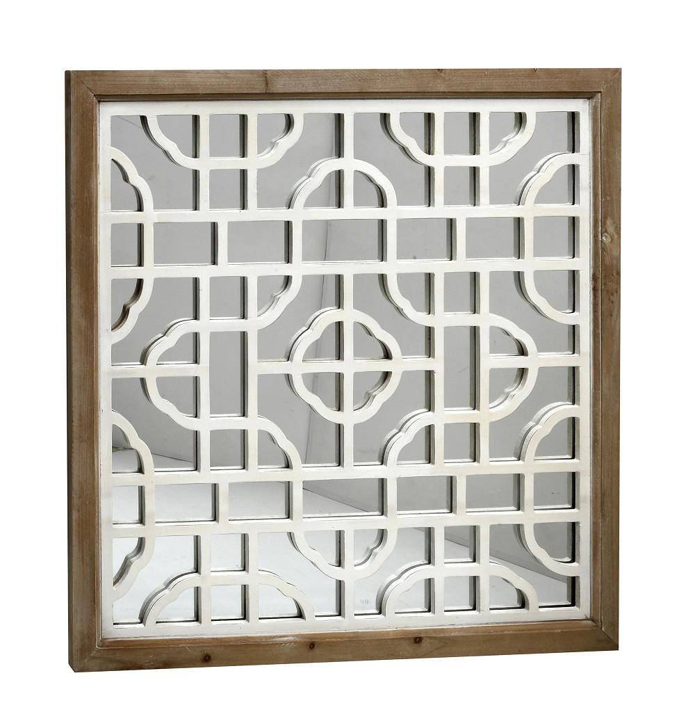 Καθρέπτης Τοίχου Ξύλινος ESPIEL 64×2,5×64εκ. ABO205 (Υλικό: Ξύλο) – ESPIEL – ABO205