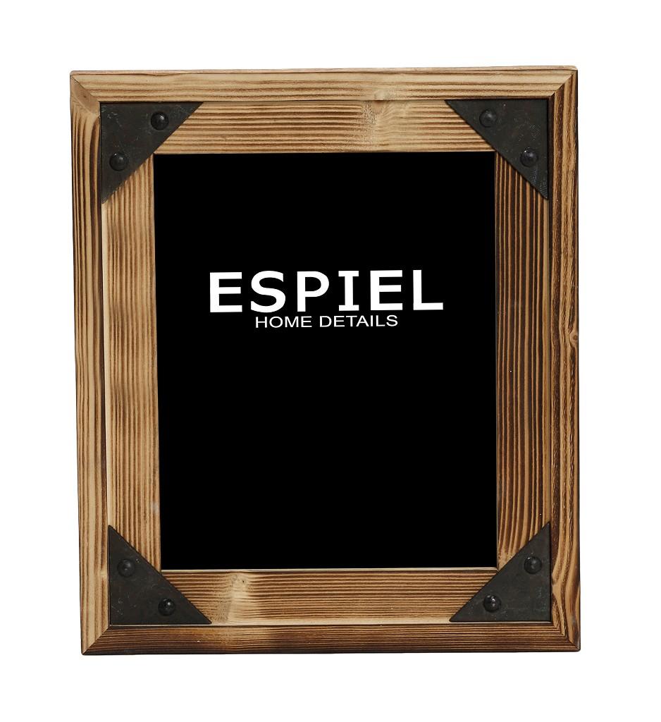 Κορνίζα Ξύλινη-Μεταλλική Espiel 18x1,5x23εκ. SOF117 - ESPIEL - SOF117