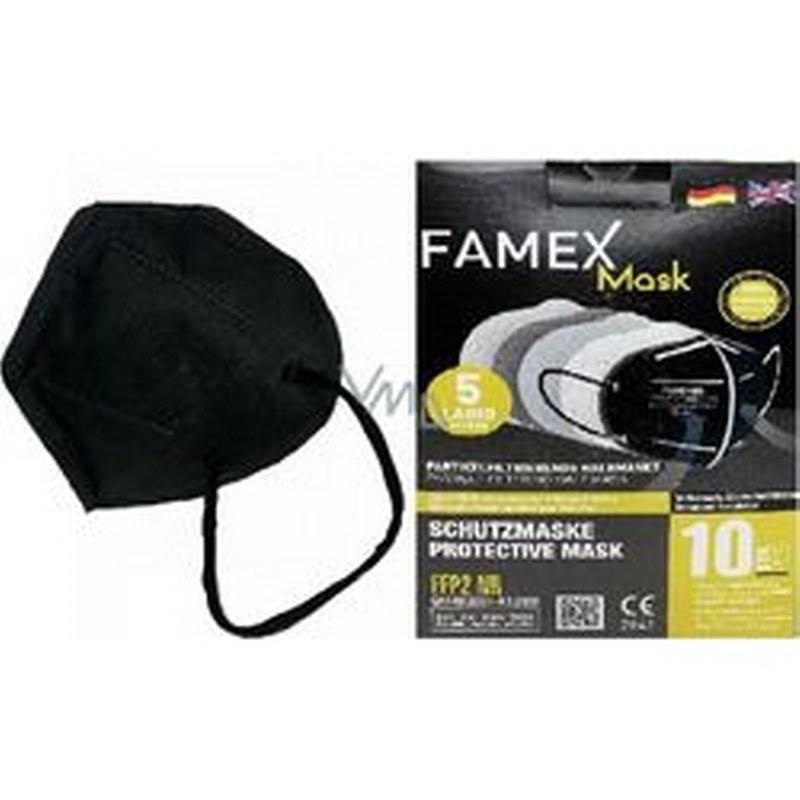 Μάσκα Προστασίας Ενηλίκων Σετ 10τμχ Famex Protective NR FFP2 Μαύρη (Χρώμα: Μαύρο) – OEM – ffp2-adult-black-10