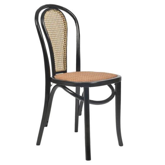 Καρέκλα Ξύλινη inart Μαύρη – Μπεζ – inart – 3-50-597-0050