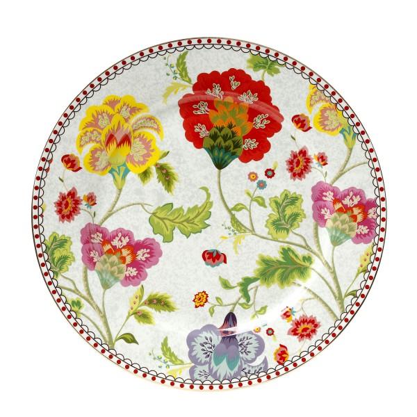 Πιάτο Φρούτου Πορσελάνης 21εκ. Floral Grey CRYSPO TRIO 14.201.03 (Υλικό: Πορσελάνη) – CRYSPO TRIO – 14.201.03