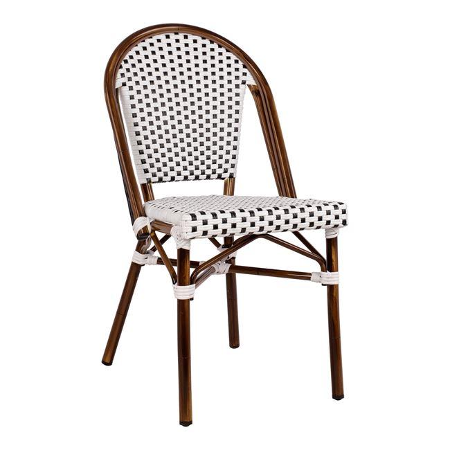 Καρέκλα Αλουμινίου Λευκή-Μαύρη 45x54x90Υεκ. Freebox FB95566.01 (Υλικό: Wicker, Χρώμα: Λευκό) – Freebox – FB95566.01