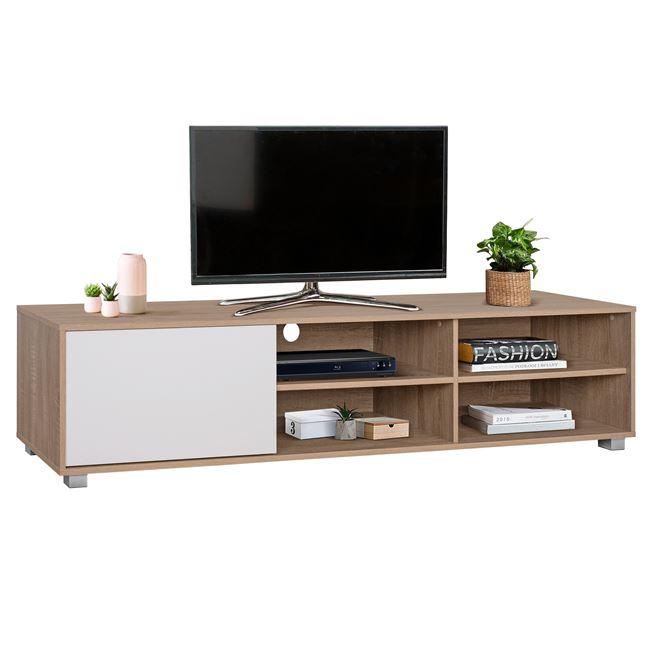 Έπιπλο Τηλεόρασης Μελαμίνης Sonama-Λευκό 180x40x41εκ. Freebox FB92343.01 (Υλικό: Μελαμίνη, Χρώμα: Λευκό) – Freebox – FB92343.01