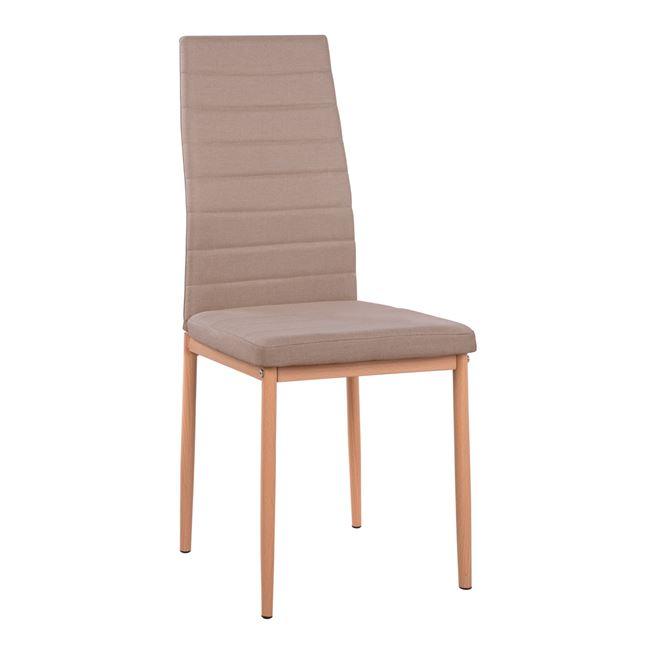 Καρέκλα Μεταλλική-Υφασμάτινη Μπεζ 40x48x95εκ. Freebox FB90037.14 (Υλικό: Μεταλλικό, Χρώμα: Μπεζ) - Freebox - FB90037.14