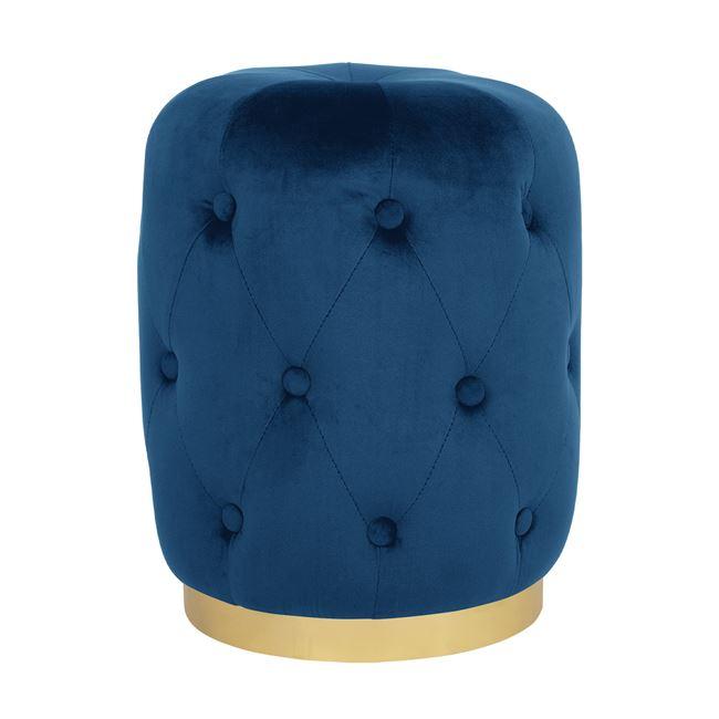Σκαμπώ Βελούδινο Μπλε Με Χρυσή Βάση FB98405.08 Φ37x46Υεκ. (Ύφασμα: Βελούδο, Χρώμα: Μπλε) - Freebox - FB98405.08