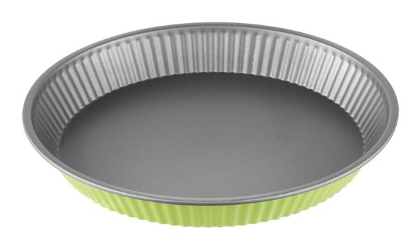 Φόρμα Τάρτας Αντικολλητική Χάλυβα 28x4εκ. Colors PAL 050.000380-Green (Υλικό: Χάλυβας ) - PAL - 050.000380-green