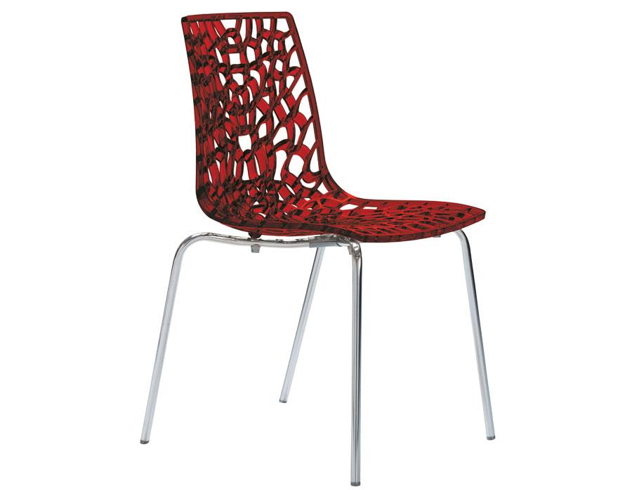Καρέκλα χρωμίου-πολυκαρμπονική Groove PC glossy μπορντό - OEM - 13-groove_pc_bordo