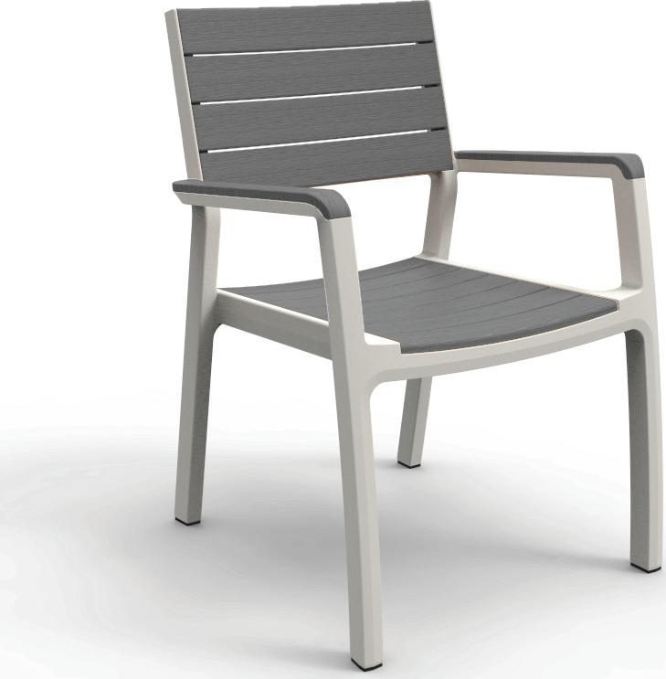 Πολυθρόνα Εξωτερικού Χώρου Harmony-Π White/Light Grey - keter - harmony-p-white/light-grey