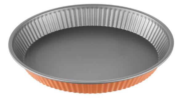 Φόρμα Τάρτας Αντικολλητική Χάλυβα 28×4εκ. Colors PAL 050.000380-Orange (Υλικό: Χάλυβας ) – PAL – 050.000380-orange