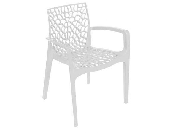 Πολυθρόνα Πολυπροπυλενίου Gruvyer White - OEM - 13-gruvyer-π-white κηποσ   βεραντα καρέκλες κήπου