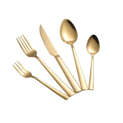 Σετ Μαχαιροπήρουνα 60τμχ Ανοξείδωτα 18/0 Porto Gold Dinox (Υλικό: Ανοξείδωτο, Χρώμα: Χρυσό ) – Dinox – 8-porto-gold-60