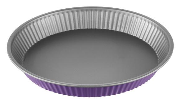 Φόρμα Τάρτας Αντικολλητική Χάλυβα 28×4εκ. Colors PAL 050.000380-Purple (Υλικό: Χάλυβας ) – PAL – 050.000380-purple