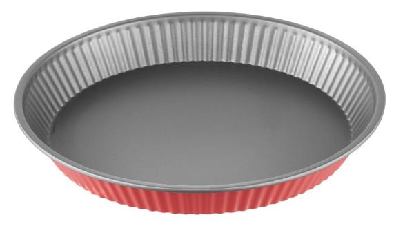 Φόρμα Τάρτας Αντικολλητική Χάλυβα 28×4εκ. Colors PAL 050.000380-Red (Υλικό: Χάλυβας ) – PAL – 050.000380-red