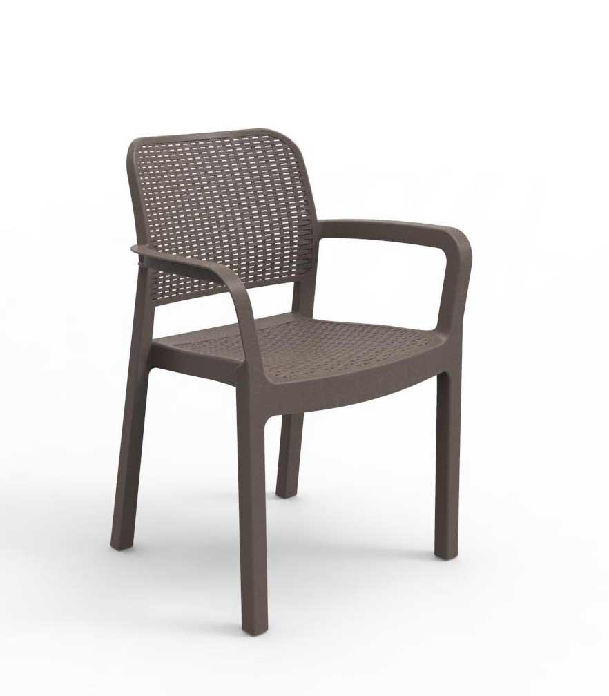 Πολυθρόνα Εξωτερικού Χώρου Wicker Samanna Cappuccino – Allibert – samanna-armchair-cappuccino