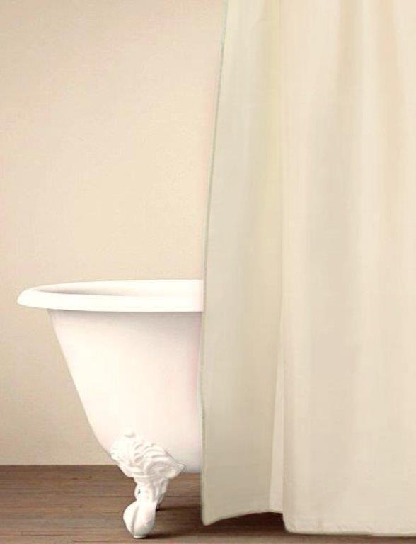 Κουρτίνα Μπάνιου Palamaiki Simple Cream 180×240εκ. (Ύφασμα: Polyester) – Palamaiki – 5205857181406
