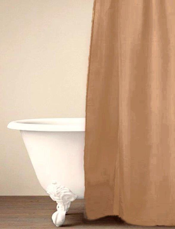 Κουρτίνα Μπάνιου Palamaiki Simple Sand 180x240εκ. (Ύφασμα: Polyester) - Palamaiki - 5205857181420