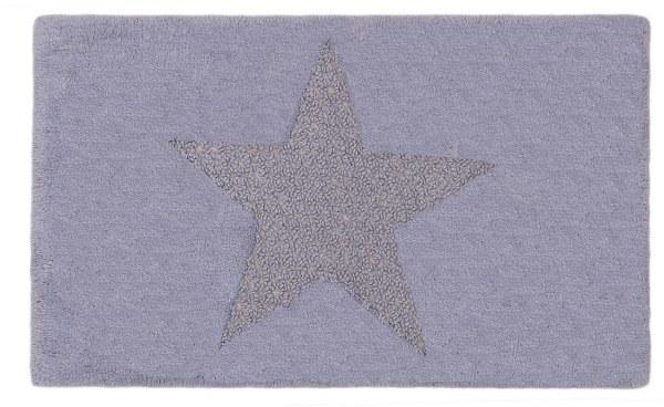 Ταπετο μπάνιου βαμβακερό Star - Palamaiki - star-lavander μπανιο χαλάκια μπάνιου